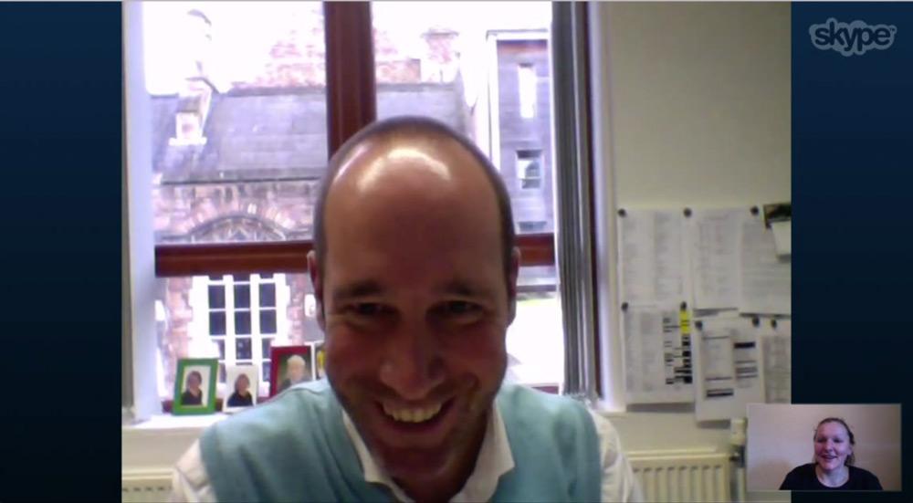 Skype-Screenshot Dr. Christoph Schwitzer