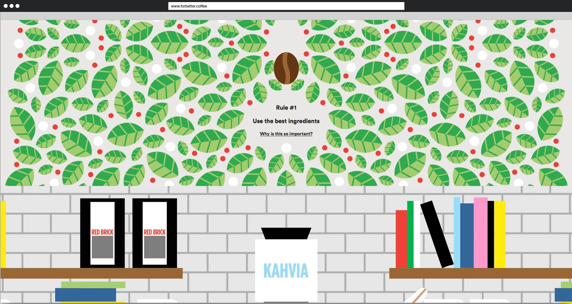 Screenshot »For better Coffee«: Die Bohne wandert Richtung Mahlmaschine