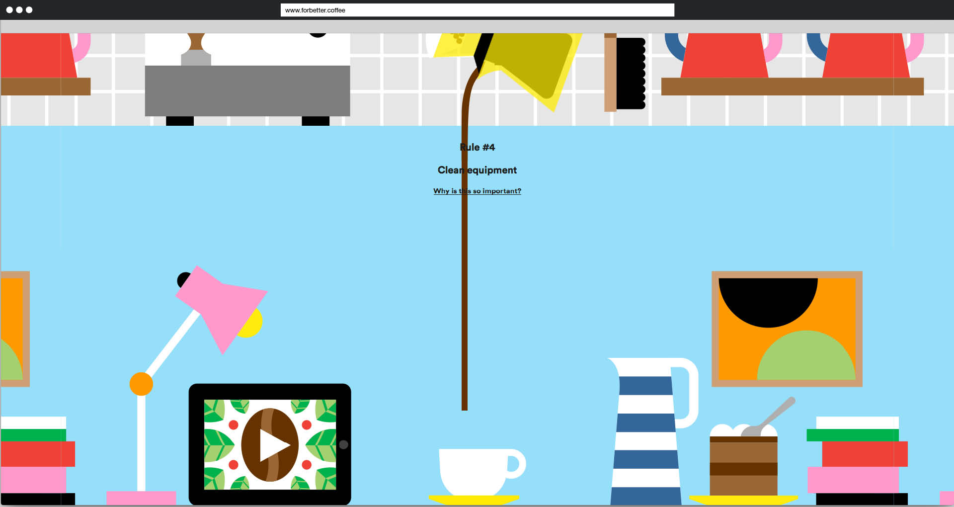 Screenshot »For better Coffee«: Der fertige Kaffee wird ausgegossen