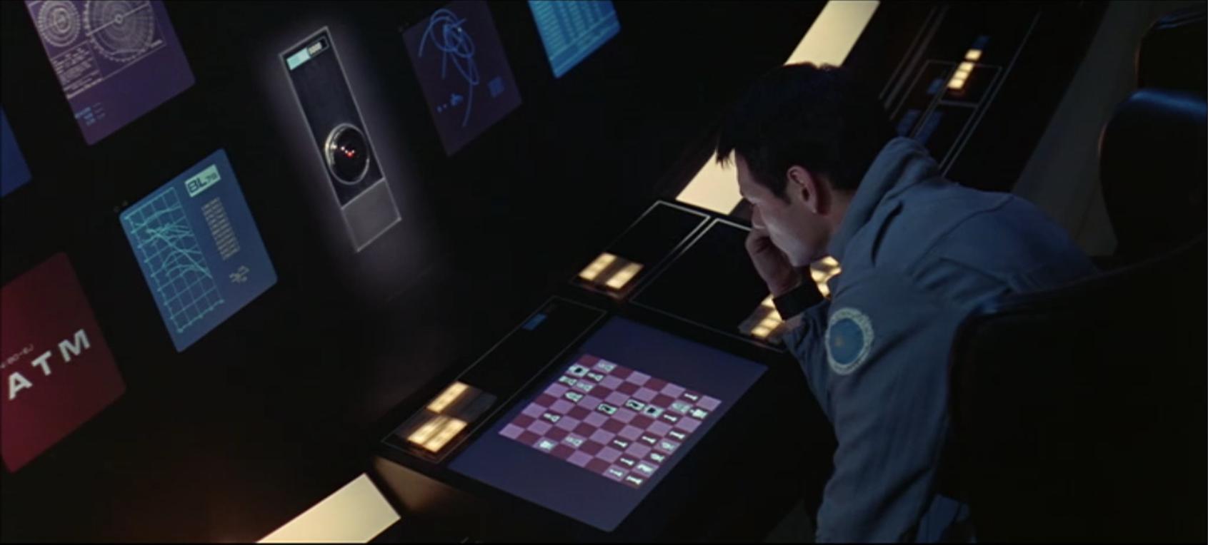 Screenshot aus: »2001: Odyssee im Weltraum« Schachspiel