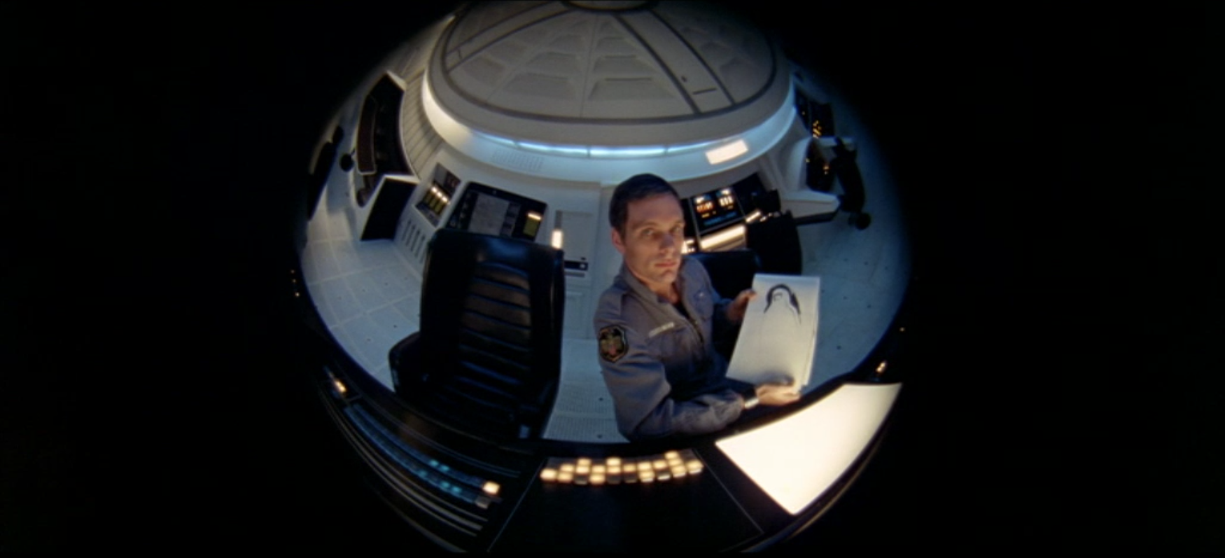 Screenshot aus: »2001: Odyssee im Weltraum« Zeichnung