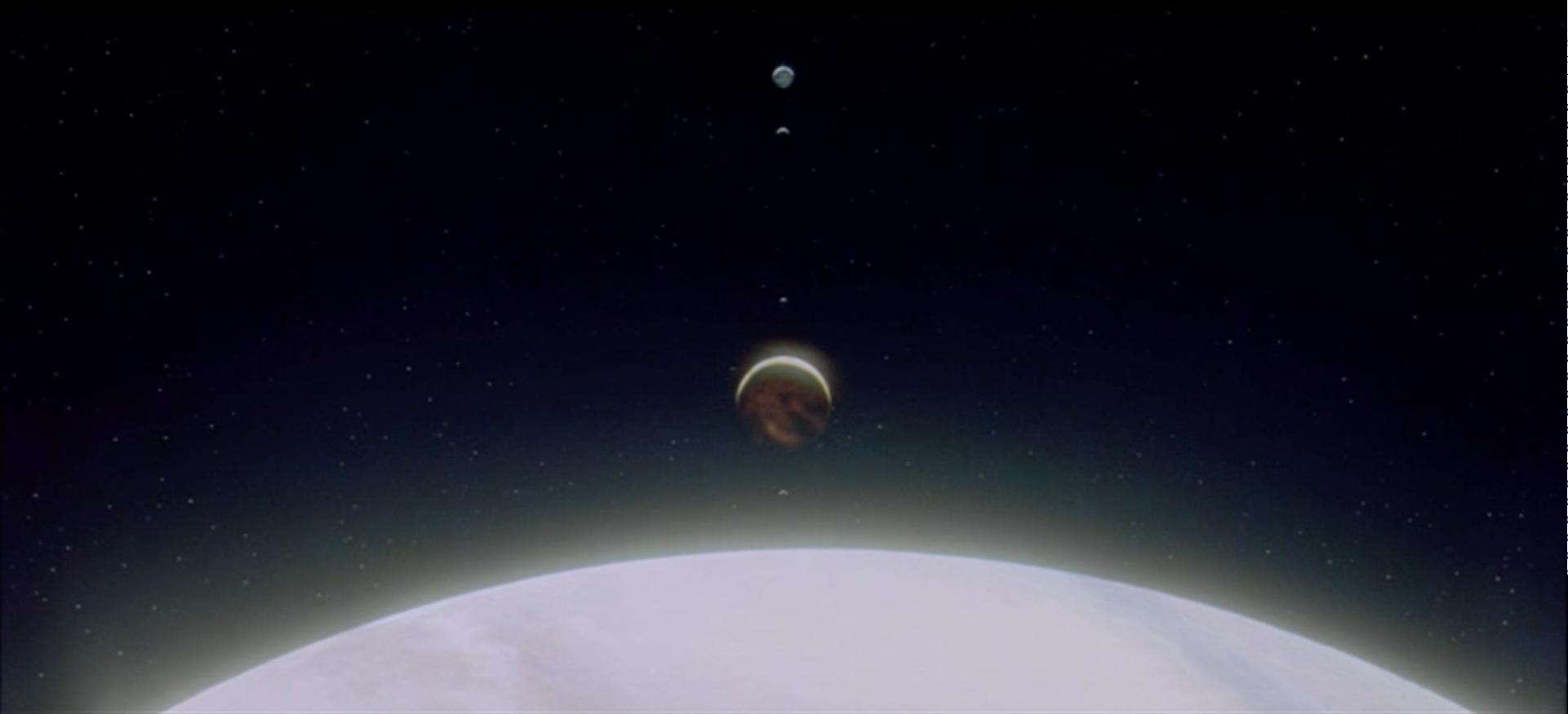 Screenshot aus: »2001: Odyssee im Weltraum« Weltall