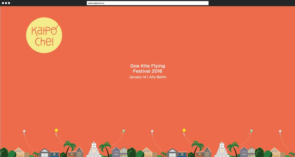 Veranstaltungsseite für das Goa Kite Flying Festival 2016 auf www.kaipoche.co/II