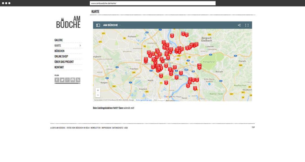 Karte des Projekts »Am Büdche«I