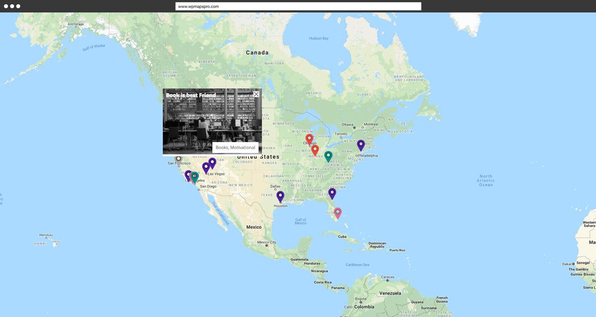 Anzeige von benutzerdefinierten Felder mit WP Google Map Pro