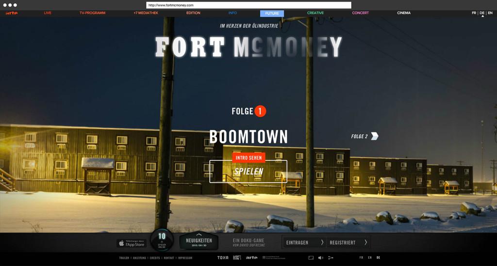 Folge 1 »Boomtown« des Doku-Spiels Fort McMoney<sup>I</sup>