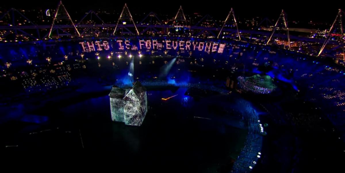 »This is for everyone« bei der Eröffnungsfeier der olympischen Spiele 2012 in London