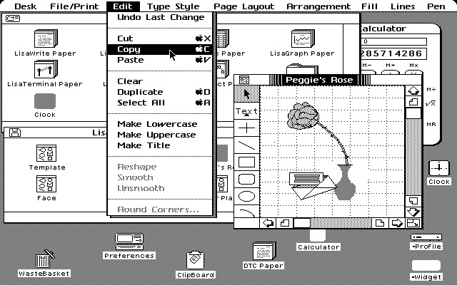 Screenshot Apple Lisa