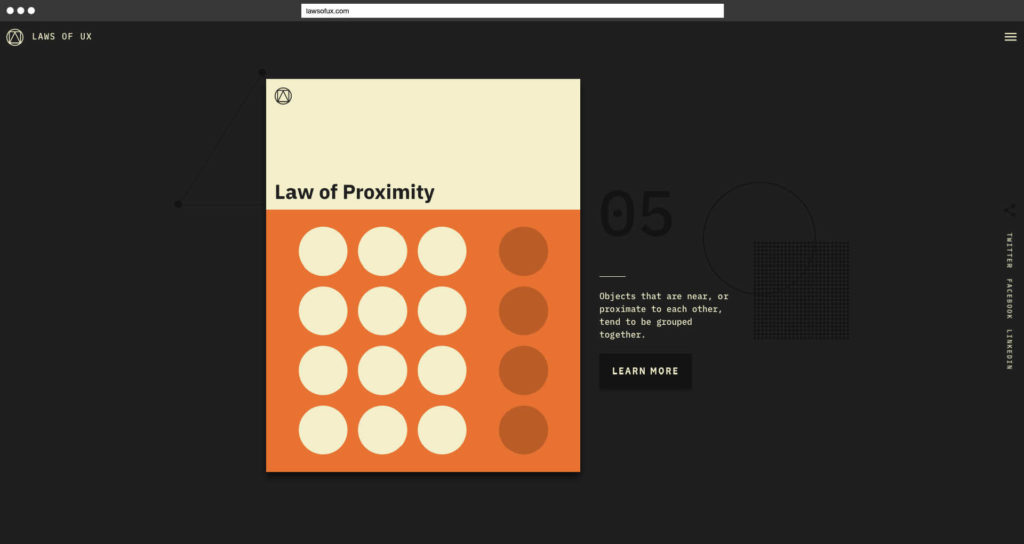Laws of UX Jon Yablonski Law of Proximity