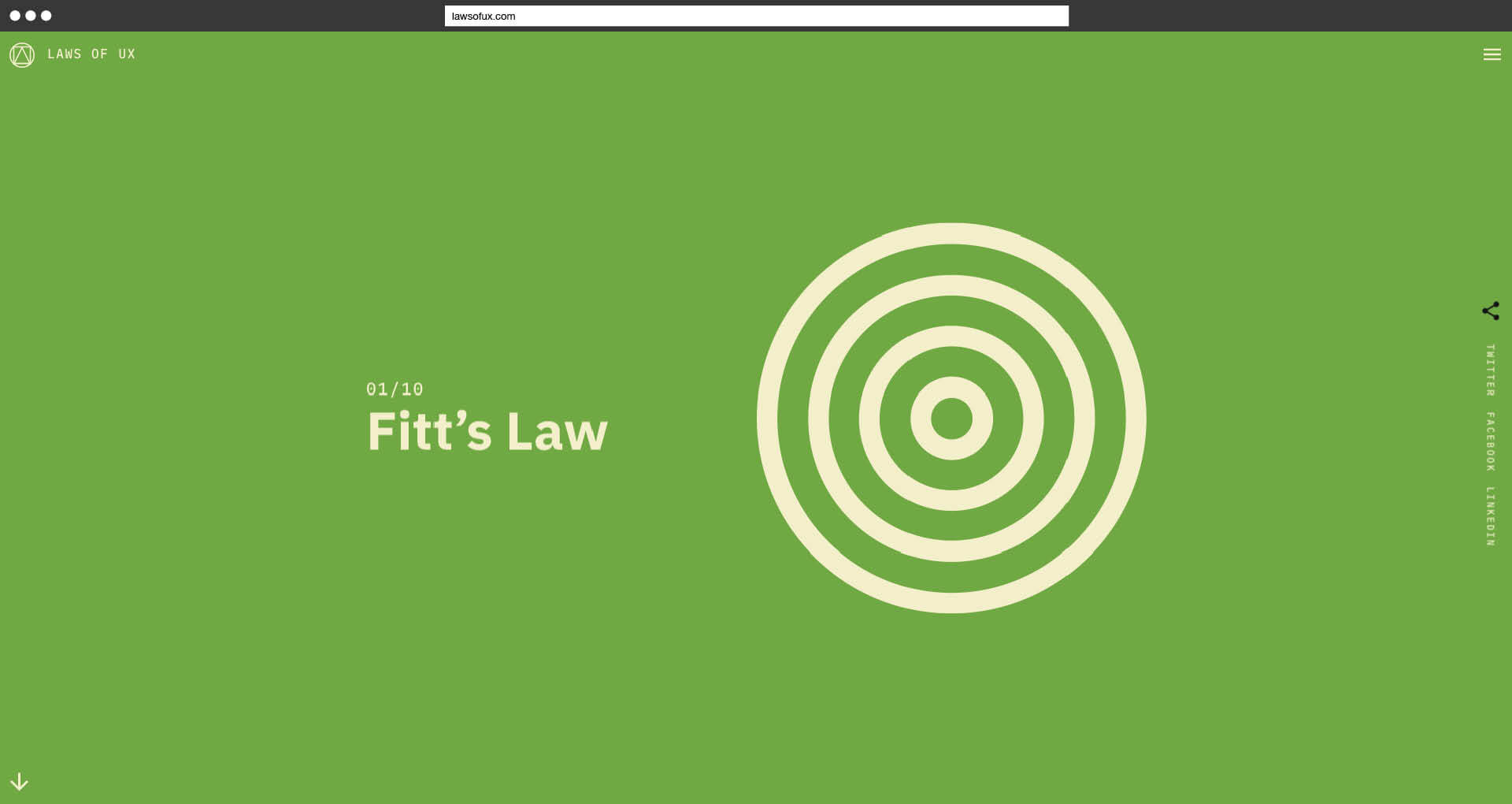 Laws of UX Jon Yablonski Fitt's Law Detail
