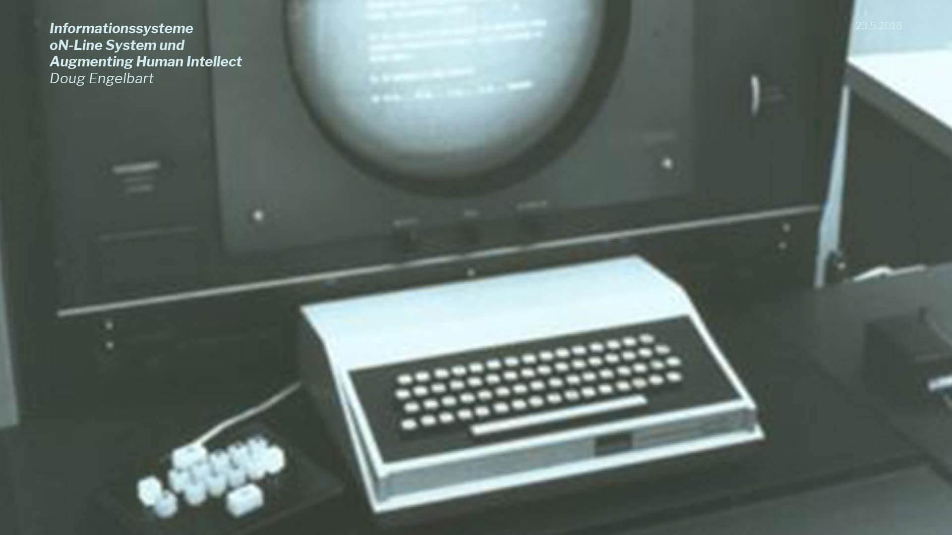 Präsentation | Beispielhaft für theoretische Inhalte: Doug Engelbart