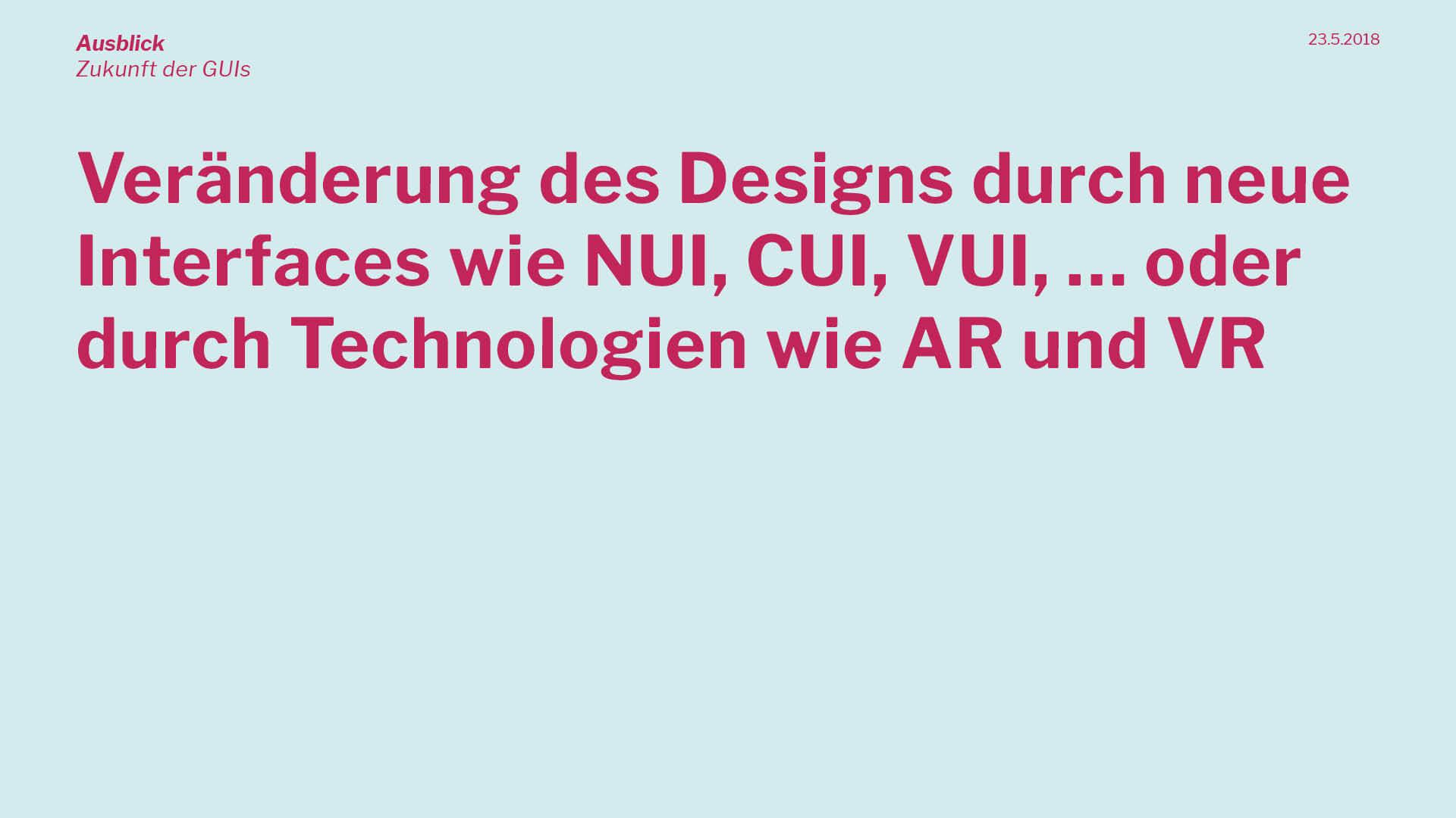 Präsentation | Veränderung des Designs
