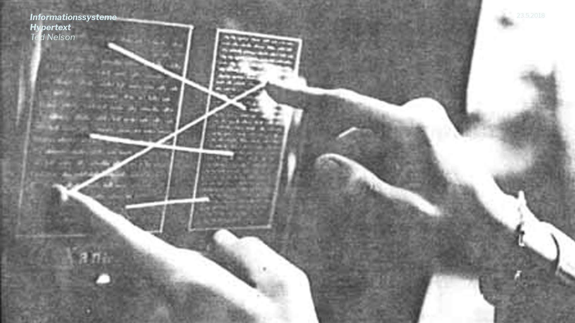 Präsentation | Beispielhaft für theoretische Inhalte: Ted Nelson